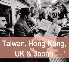 Taiwan, Hong Kong, UK and Japan