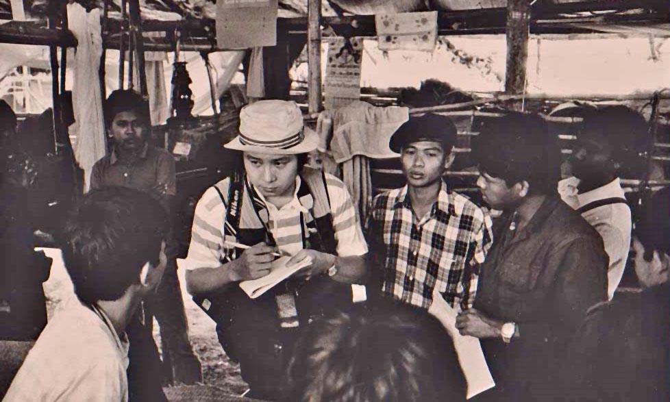 33年前学生キャンプで